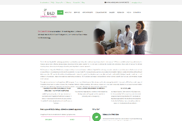 Institute of Applied Dermatology Website Screenshot